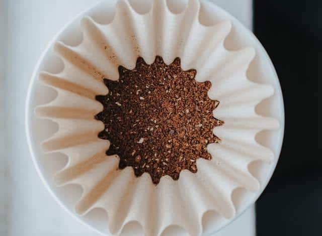 coffee in a filter