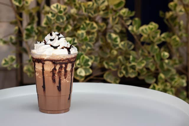 frappe on a tray