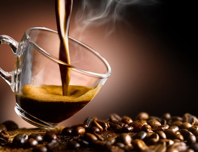 hot coffee being poured